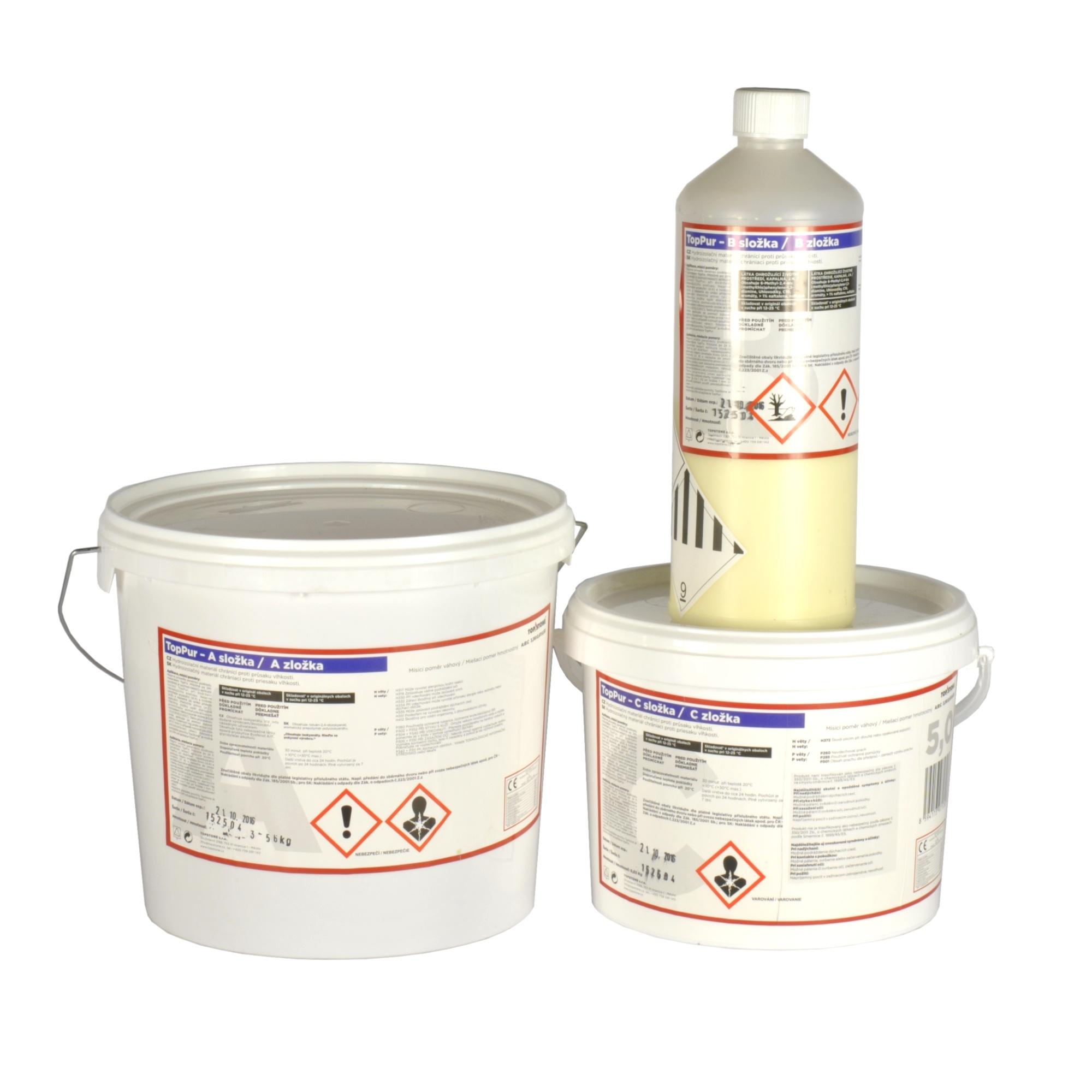 TOPSTONE TopPur - tekutá polyuretanová hydroizolace (balení 2,5kg)